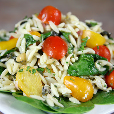 Bone Suckin' Orzo Salad & Dressing