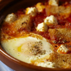 Baked Eggs With Tomato And Feta Recipe
