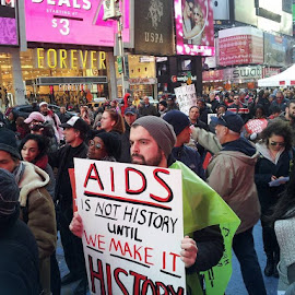 World Aids Day Rally! Time Sq. New York, N.Y. 2013 by Ows Spag - News & Events Politics