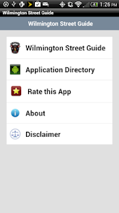 Wilmington Street Guide - screenshot