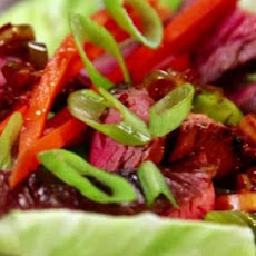 Grilled Flank Steak Lettuce Wraps