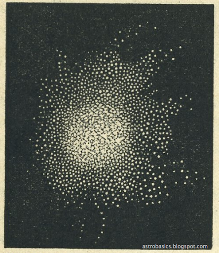 Drawing of Hercules Cluster M-13