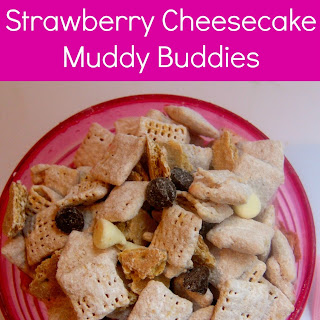 Double Chocolate Strawberry Cheesecake Muddy Buddies