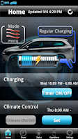 Screenshot of Outlander PHEV remote control