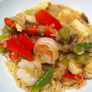 Chicken And Shrimp Vegetable Stir Fry