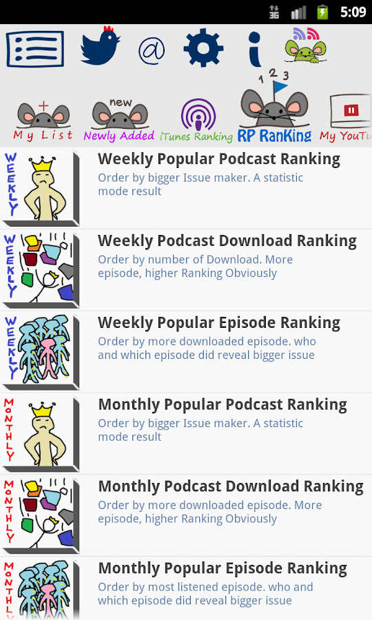 Ratpoison Podcast player-paid Screenshot 4