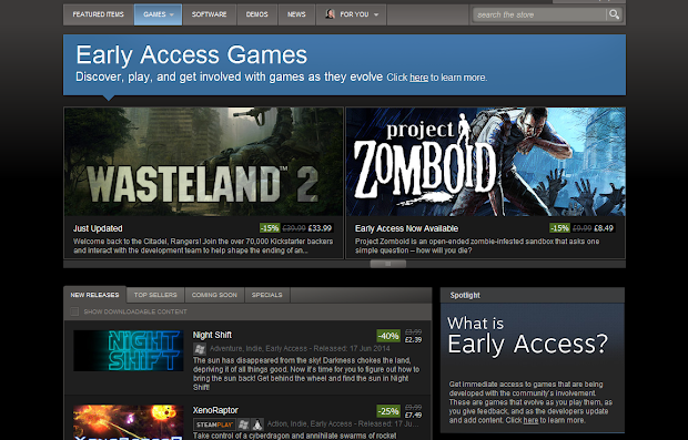 What's wrong with Steam Early Access?