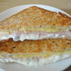 Decadent Grilled Ham and Cheese Sandwich