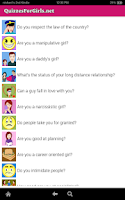 Screenshot of Quizzes For Girls