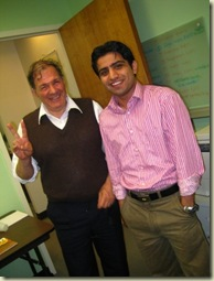 Albert Santoli and Chandan