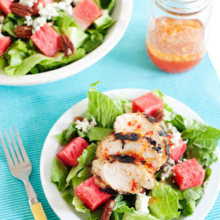 Watermelon and Pecan Salad with Pepper Jelly Vinaigrette