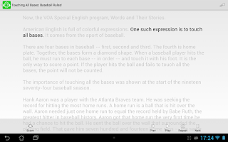 Screenshot of American English Listening Pro