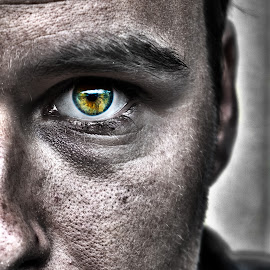 half me by Robert Drumm - Digital Art People ( face, hdr, gritty, portrait, eye,  )