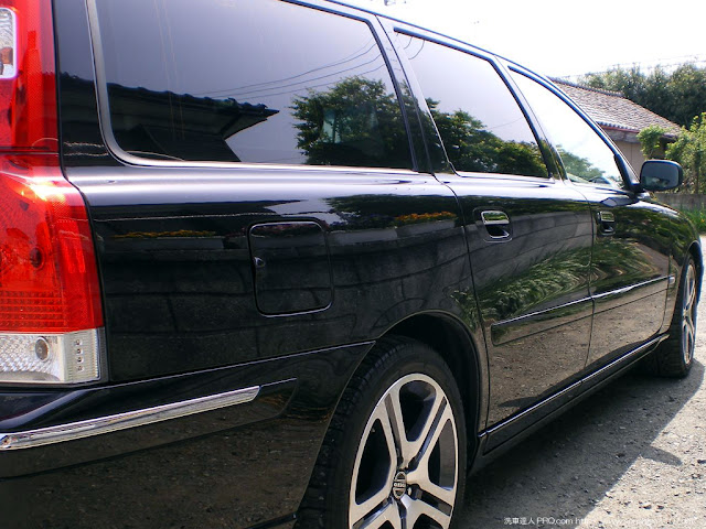 ボルボ V70 05y 洗車達人PRO.com 実践報告 群馬県 会員様