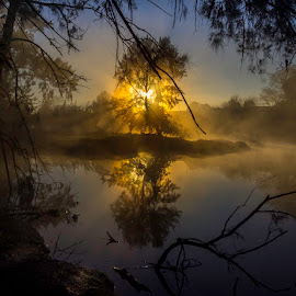 Mystic Dawn by Tim Searle - Landscapes Sunsets & Sunrises