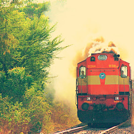 An Indian Railway Loco by Sharanyan Iyengar - Transportation Trains ( indian railways, india, transportation, pune )