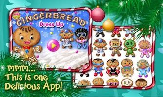 Screenshot of Gingerbread Dress Up XMAS Game