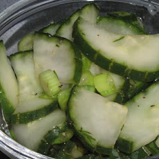 Simply Marinated Cucumbers