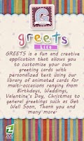 Screenshot of GREETS Lite Anim Greeting Card