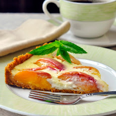 Summer Peach Custard Tart