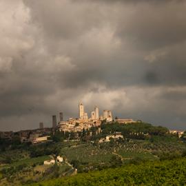 San Gimignano by Maurizio Martini - City,  Street & Park  Skylines ( tower, skyscraper, san gimignano, town, medieval )