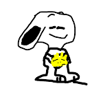 Snoopy holding Woodstock