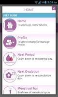 Screenshot of Menstrual Cycle - Woman Log