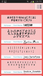 Zombie Fonts Free - screenshot