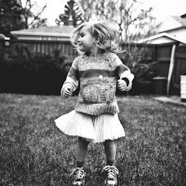 by Amy Bundy - Babies & Children Children Candids ( child, documentary style, girl, black and white, movement, jump,  )