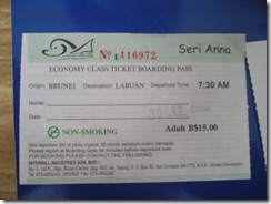 brunei ticket