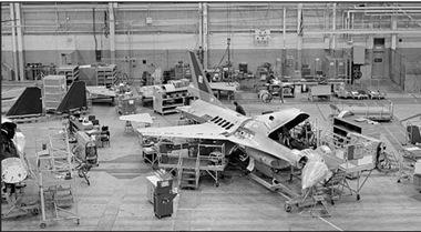 F-16 assembly line