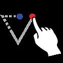 Coordinate triangle solver icon