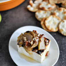 Broiled Feta with Caramelized Cinnamon Pears