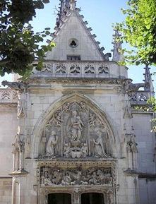 Façade de la chapelle St Hubert