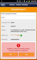 Screenshot of Indane Aadhar Seeding