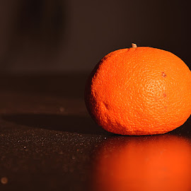 so orange by Elena Auguria - Food & Drink Fruits & Vegetables ( har light, orange, specs of dust, reflexion )