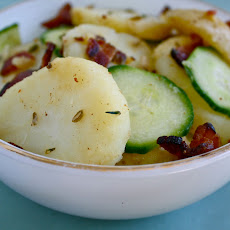 Warm Potato Salad with Bacon and Fennel