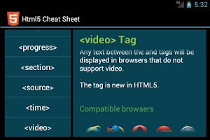 Screenshot of Html5 Cheat Sheet