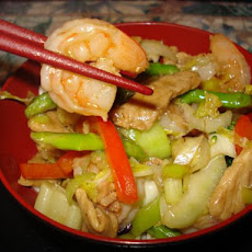 Pork and Prawn/Shrimp Stir Fry