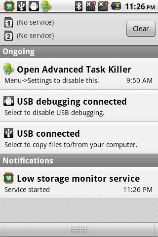 Storage monitor service