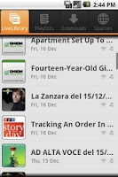 Screenshot of DriveCast