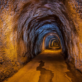 The Tunnel by Maxim Malevich - Landscapes Caves & Formations ( montenegro, perspective, underground, pass, tunnel )