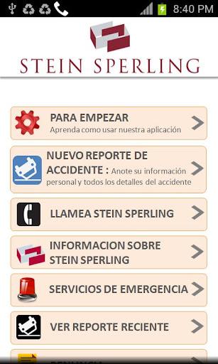 Stein Sperling Accidente App