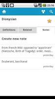 Screenshot of Dictionary