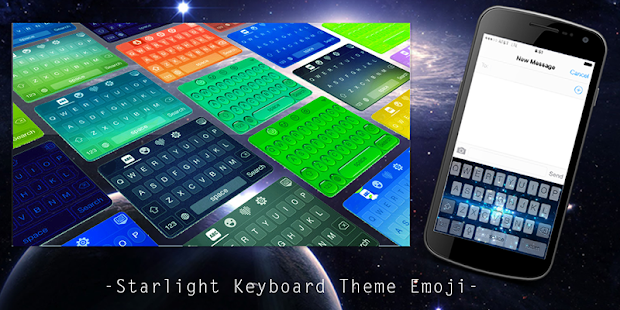 Starlight Keyboard Theme Emoji - screenshot