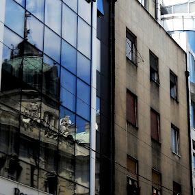 Belgrade, Serbia, Europe by Vesna S. Disić - Buildings & Architecture Other Exteriors ( srbija, urban, reflection, europe, blue, serbia, belgrade, evrpoa, beograd, architecture, town, city )
