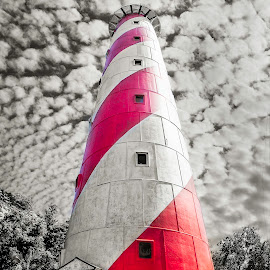 Lighthouse by Nipun Soni - Buildings & Architecture Other Exteriors ( blackandwhite, building, red, white, lighthouse, black )