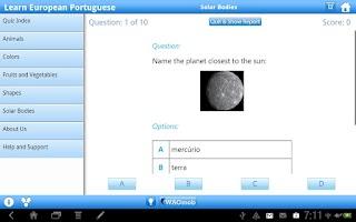 Screenshot of Learn European Portuguese