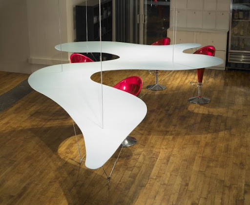 Suspended Dining Table by Bernstein Architects