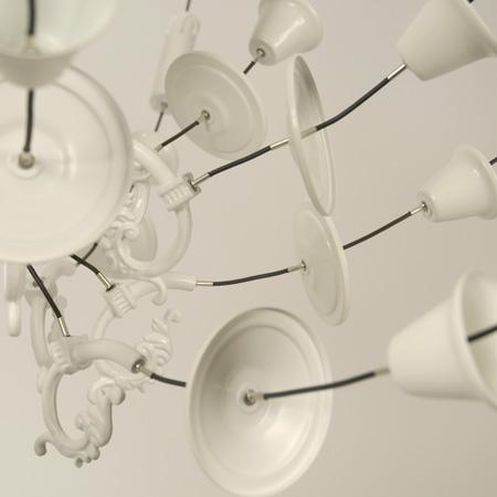 Exploded chandeliers by Ward van Gemert